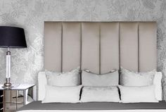 Jasmin panneled upholstered bedhead, custom made upholstered bedhead from Bedhead Design. Bespoke Furniture, Furniture For You, Sydney Australia, Bedhead Design, Upholstered Beds, Headboards For Beds, Soft Furnishings, Bed Pillows, Headboards
