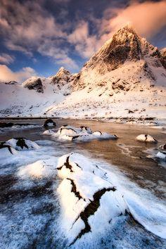 Flakstad Lofoten Norway by svenbroeckx. Please Like http://fb.me/go4photos and Follow @go4fotos Thank You. :-)