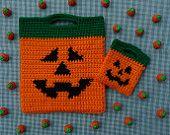 Candy Corn Halloween Bag Set CROCHET PATTERN. $2.95, via Etsy.