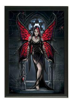 Fée gothique Aracnafaria - Déco gothic - Cadre - Anne Stokes