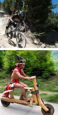 Mountain bike. Anyone does it this way.
