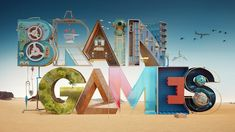 Nat Geo Brain Games Promo from Roof Studio Create Animation, 3d Animation, 3d Typography, Graphic Design Typography, National Geographic Channel, Brain Games, 3d Artwork, Visual Effects, Stop Motion