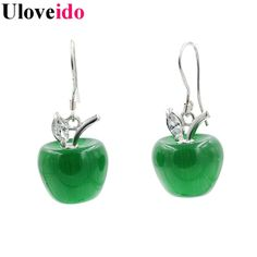 Find More Drop Earrings Information about Uloveido 8 Colors Green Apple Long Earrings for Women Statement Earings Vintage Jewelry Earing Pendientes Christmas Gifts YL007,High Quality earring singapore,China earrings clay Suppliers, Cheap earring hoop from D&C Fashion Jewelry Buy to Get a Free Gift on Aliexpress.com