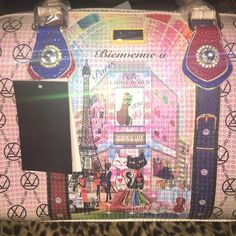 SALE!!! BNWT LANY purse Bienvenue a Paris Gorgeous Paparazzo statement hand bag by Only LANY peTa approved Vegan bag Bling with sequence BRAND NEW...still in plastic! Comes with new shoulder strap and dust cover Only LANY Bags Totes