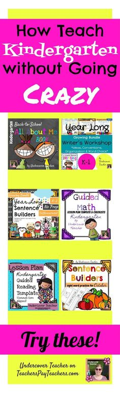 Teaching is hard work! Teaching Kindergarten is like climbing a mountain with 25 little kids along with you! Make your life easier by incorporating some high-quality, classroom tested Kindergarten Guided Math, Guided Reading, Writer's Workshop, 6 Traits, and All About Me Books into your classroom resources!