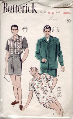 1950s Butterick 4968 sewing pattern // Men's Sport by Winkorama, $10.00