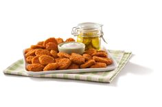Add some flavor to your day up with this savory snack. It gives you a crisp AND a crunch - Farm Rich Crispy Dill Pickles!