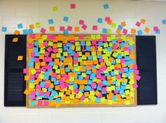 """I wonder""  bulletin board.  A fun and creative  way to discover what your students are interested in learning during the school year."