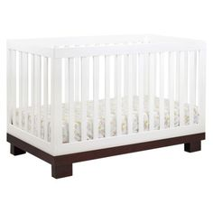 Babyletto Modo 3 in 1 Crib  with Toddler Rail White/Espresso. -- I like this one better but it's $389