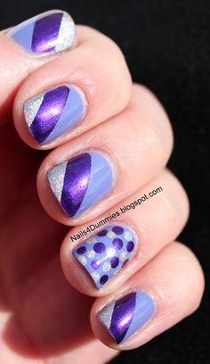 Nails4Dummies-Purple Tape Mani