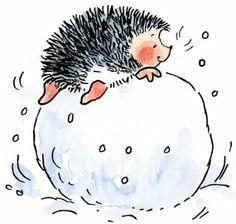 hedgehog snowball
