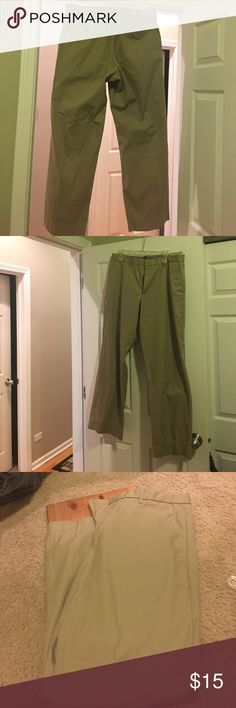 Gap khakis beige tan color size 36 x 34 Gap khakis beige color tailored relaxed fit has blue and white stripes inside all the buttons and zippers are working having bottom excellent condition Post-it note as my reference GAP Pants Chinos & Khakis