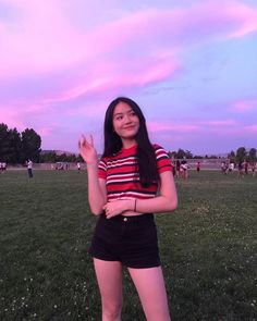 Image may contain: one or more people, people standing, sky, stripes and outdoor Cute Young Girl, Cute Girl Pic, Cute Girls, Girl Photo Poses, Girl Photography Poses, Girl Photos, Filipina Girls, Girl Outfits, Cute Outfits