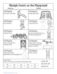 free printable with pocket chart vocabulary cards and a playground activity to get the children moving