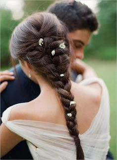 Wear a Braid on your Wedding Day #Flowers #Romantic #Jellifi  #Find a Hairstylist for your Big Day on JELLIFI.com