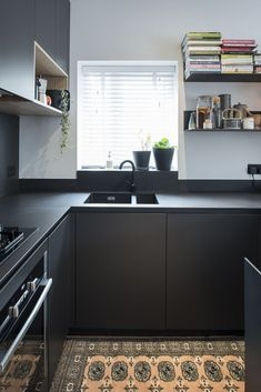 The All Black Kitchen, Belfast     #allblackeverything #scandinavian #belfast #northernireland #kitchendesign