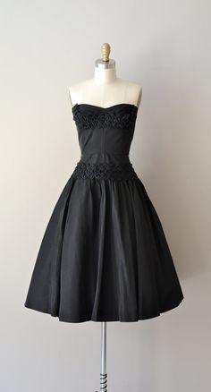 Chance Encounter dress vintage 1950s dress black by DearGolden