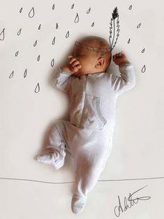 So unglaublich süße Baby Fotos. Das werde ich mit meinem jüngsten Enkelkind machen als Überraschung für meine Tochter