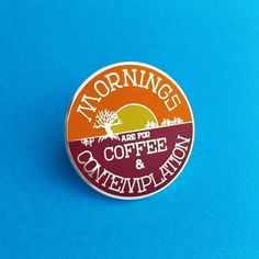 Hawkins Sheriff Jim Hopper knows where its at when it comes to that pre-lunch period. Even when theres a monster on the loose. Celebrate your love for Stranger Things with this hard enamel pin. These pins are huge and measures 3.8cm in diameter. Theyre secured with a double rubber clutch. Please check the size before buying