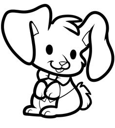 Bunnies With Big Ears Coloring Pages For Kids Printable