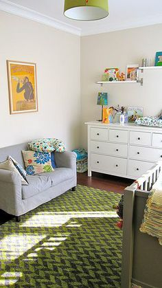 Baby room small couch like it | BABY | Pinterest