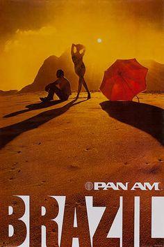 """Pan Am - Brazil"" travel poster"