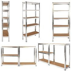 Get off now on Heavy Duty Metal Storage Racking Garage Shelving Warehouse 5 Tier Unit MDF Shelf Silver SGS Approved Galvanised Flour Storage, Ikea Toy Storage, Office Storage, Storage Shelves, Shelf, Garage Shelving Units, Metal Shelves, Office Interior Design, Office Interiors