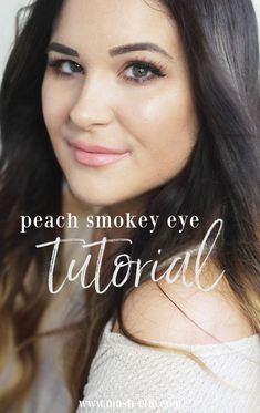 Get the Look: Perfectly Peachy Smokey Eye Easy Makeup Tutorial, Smokey Eye Makeup Tutorial, Makeup Artist Tips, Makeup Tips, Best Beauty Tips, Beauty Hacks, Nyx, Maybelline, Shower Party