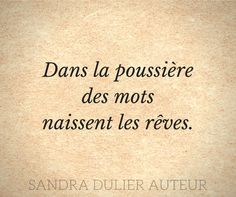 Citation - mots - Sandra Dulier