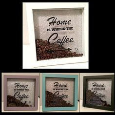 Home is Where the Coffee is Box Frame Shadow Box by TheGiftPage