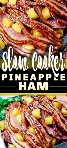 Slow Cooker Ham is a classic and iconic meal, yet there& so many variations on this recipe. Here is my go-to for the best SLOW COOKER BROWN SUGAR PINEAPPLE HAM ever, easy to make with just 5 ingredients - and so delicious! Recipes With Cooked Ham, Easy Ham Recipes, Slow Cooker Ham Recipes, Best Slow Cooker, Crockpot Recipes, Baked Ham Recipes, Slow Cooked Ham, Meal Recipes, Easy Thanksgiving Recipes