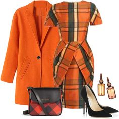 Autumn Plaid by sjlew on Polyvore featuring moda, Jimmy Choo and Vera Bradley