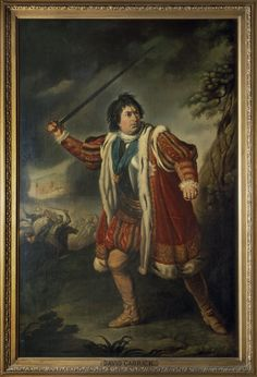 David Garrick as Richard III. Oil painting, after 1772. After original by Nathaniel Dance, 1771. Folger Shakespeare Library.