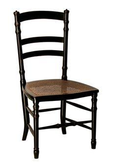 Swedish Cane SideChair. Shown in Blackw/stainedcaneavailable in painted or stained cane. W22½ D21 H40 Seat to Floor: H18 Please note, this item is a SPECI