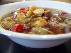 Asem-asem daging, spicy and sour beef soup specialty of Semarang