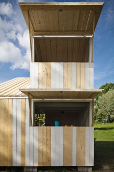 If we ever keep NPC costumes on site this would be perfect.   Anna and Eugeni Bach, Wood Playhouse with Finnish construction, Remodelista