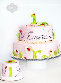 Lady Bug Birthday Cake - La Dolce Dough, Sylvania Ohio