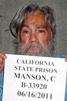 This chilling photograph of renowned serial killer Charles Manson has been released by Californian prison officials ahead of his twelfth parole hearing on Wednesday. Charles Manson Followers, Helter Skelter Charles Manson, Is He Married, Foto Real, Childhood Photos, Evil People, New Wife, Criminology, 25 Years Old