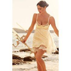 Kurzes Babydoll aus Seide-Baumwolle Batist schwarz oder creme-weiß transparent von Shell Belle Couture