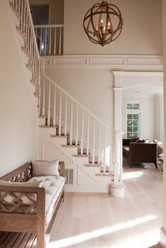 Beautiful neutral palette. Would love to come home to this entry!