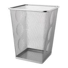DOKUMENT, Wastepaper basket, silver color