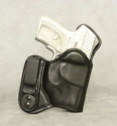 Ruger with Crimson Trace Lined & Reinforced IWB Leather Holster