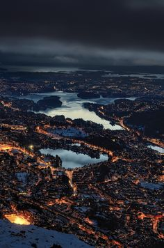 Mount Ulriken, near Bergen, Norway.... love Bergen Norway.... always so beautiful