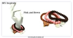 Armcandy Pink and Brown | Beads Creations Kralen en Sieraden Maken Alle onderdelen shop je via www.beadscreations.nl