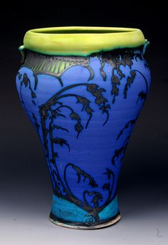 Sapphire Vase, Front, by George Pearlman | GeorgePearlman.com