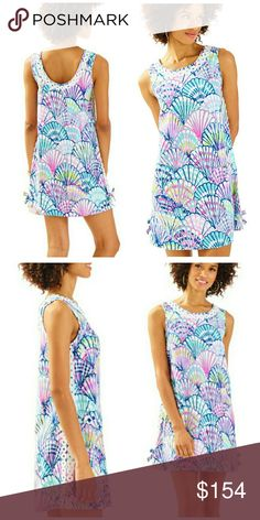 be3678e5673f72 NWT, Lilly Pulitzer Stella Shift Dress Printed A-line dress has a scoop  neckline