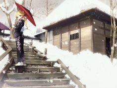 Download wallpaper girl,  umbrella,  кимоно free desktop wallpaper in the resolution 1600x1200 — picture №25266