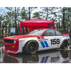 Digging this S14 with the #rocketbunny Boss V2 Kit sporting that classic BRE livery. Via YS photograph