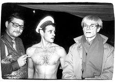 R.W. Fassbinder, Brad Davis and Andy Warhol - Querelle (1982)  filming