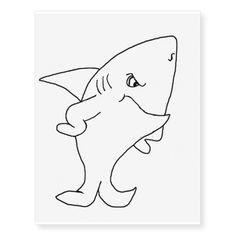 Standing shark (line drawing) temporary tattoos. Temporary tattoos, tattoos, ladies tattoos, cool tattoos, fake tattoos, body art, print, drawing, sketch